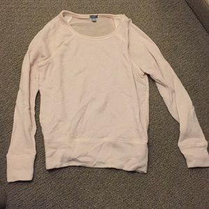 Aerie long sleeve top with see through back